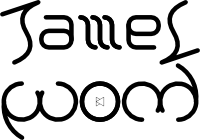 James Wood ambigram